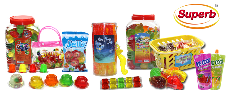 Delicious various fruit jelly coconut pudding drink in jar