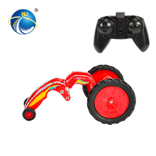 2.4G extendable vehicle body small rc stunt car toy with LED light