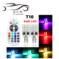 Remote Control 12v T10 W5W 168 12smd 5050 colorful RGB LED Car Interior light Dome Reading Light Lamp Bulb