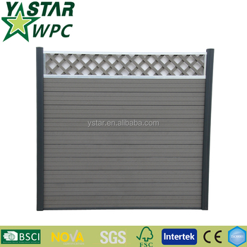 2016 outdoor mildew proof WPC fence