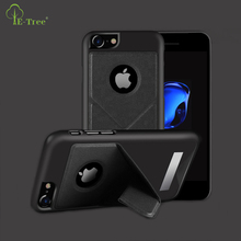 For Apple iPhone 7 PU Leather Case , Magnet PC+PU Stand Case Back Cover Free Sample Phone Case For iPhone 8 Cover
