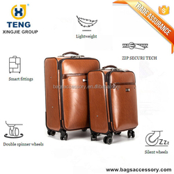 Lightweight Leather Luggage with Spinner Wheels