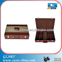 Customized cheap 4 bottle vintage leather wine box/wine case