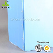 printed thin plastic foldable pp corrugated box for packing