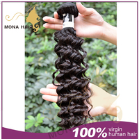 natural color unprocessed indian hair easy to care little girls ponytail hair extensions
