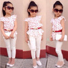 New Custom Printed Casual Style Children Clothing Set Kid Girls Pant Set