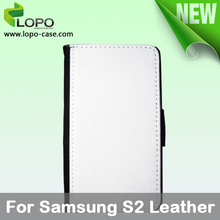 New-Subimation Mobile Phone Leather Case for Samsung Galaxy S2 ,leather material with printable surface