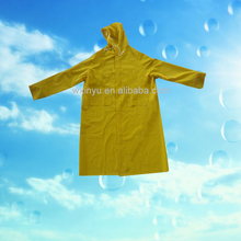 PL-32 Yellow pvc/polyester high quality mens dress raincoats