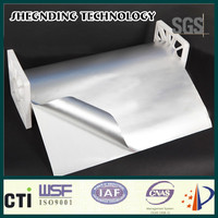 Great price! Quick sticking High performance emulsion pressure sensitive adhesive Natural Plain Aluminum Foil Cladding
