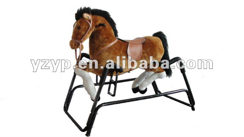 playful Plush wonder horse spring rocking horse