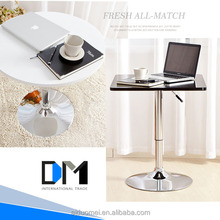 Acrylic plastic table/Wholesale round stainless steel base coffee table/Dining room table