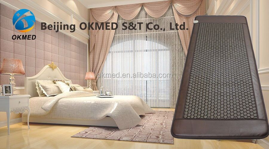 2017 wellness biomat thermal tourmanium massage mat/ tourmaline mattress combined with infrared heat therapy pad