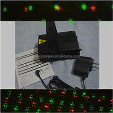 Home Party Text Laser Light with Red and Green color in Star Patterns