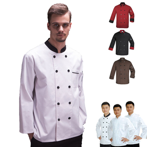 custom black kitchen chef coats uniform for restaurant