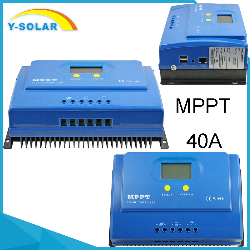 Y-SOLAR Promotional New Design MPPT Controller Solar Charger 12v 24v 40A MPPT Charge Controller YS-40A
