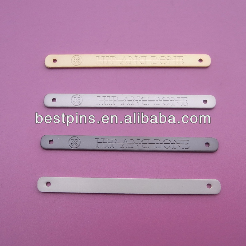 custom made metal plates engraved for garment label