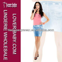 Women Faux Belt Star Blue Jean Skirts with Low Price