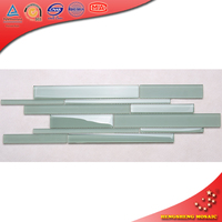 VG01 Crystal Glass Strip Subway Tiles for Kitchen Wall Decoration