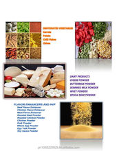 Dehydrated Vegetables, Dairy Products, Flavor Enhancers and HVP