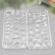 Elaborated Diamond Grain clear pc shell phone case for iphone 4G 5G
