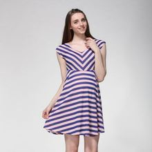 Classic style factory price model of casual dress in chiffon for ladies