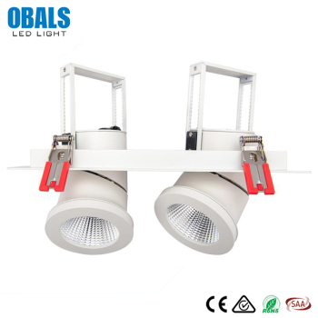 New Products On China Market Double Adjustable 10W 15W 20W 25W COB Recessed LED Downlight