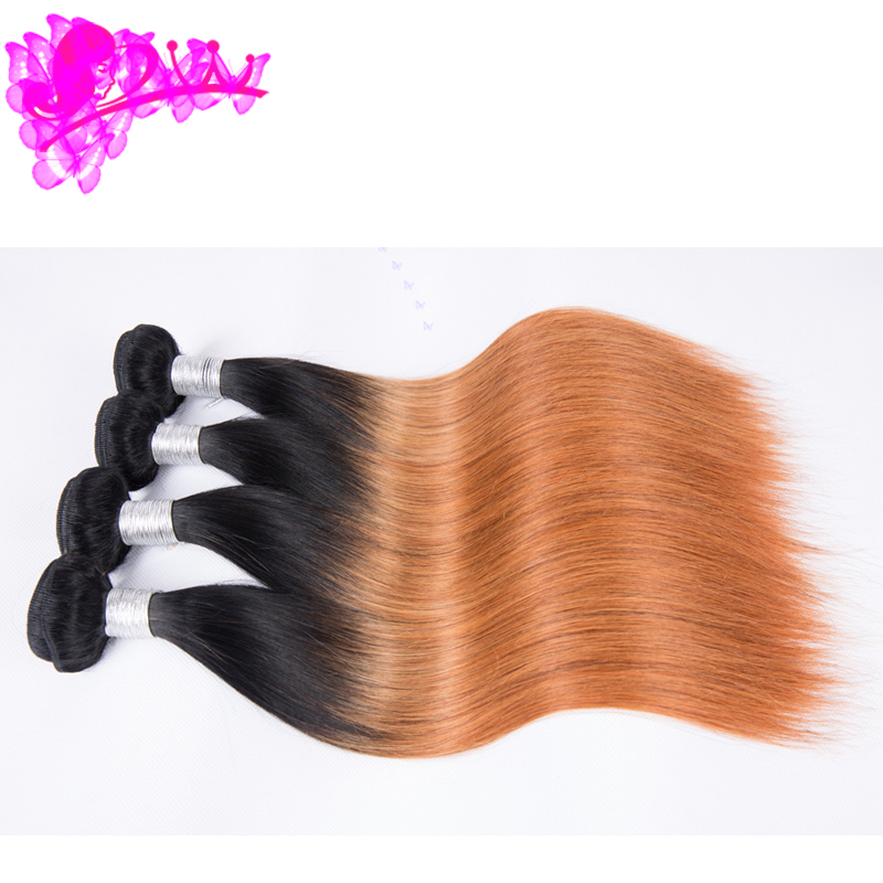 Wholesale No Tangle No shed 100 Remy 7A Grade Colored Brazilian Hair Bundles