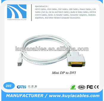 6FT Mini Display Port to DVI-D 24+1 Dual-Link Adapter Cable