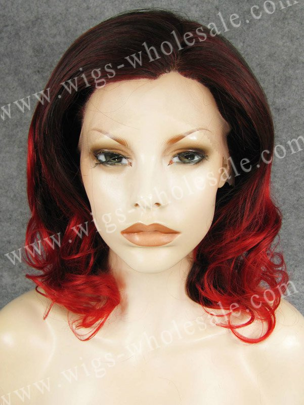 synthetic braiding hair two tone red front front two tone wig