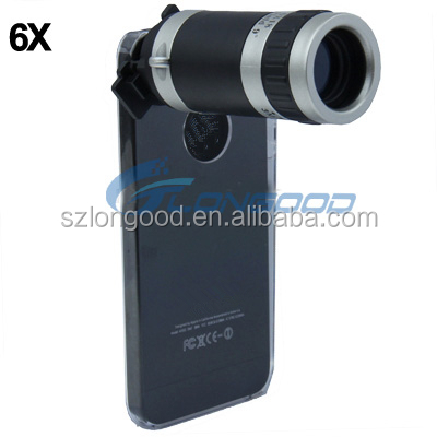 2016 popular 6X Smartphone Zoom Lens For Mobile Phone external mobile phone camera telescope