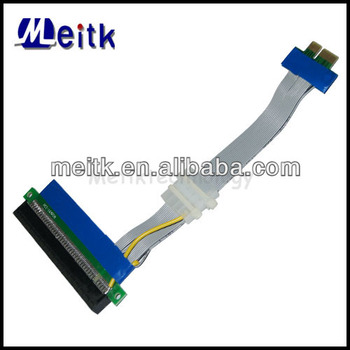 PCI-E Riser Card Flexible Cable 1X To 16X With Power Supply