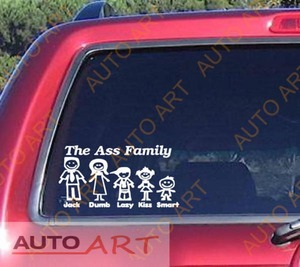 Something The ass family bumper sticker think, that