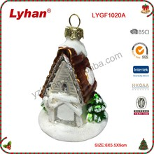 Lyhan glass house+tree for christmas decoration