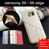 2016 newest Leather foldable with stand case for samsung s6