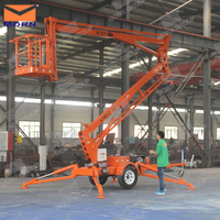 Towable hydraulic spider boom lift for sale for aerial work