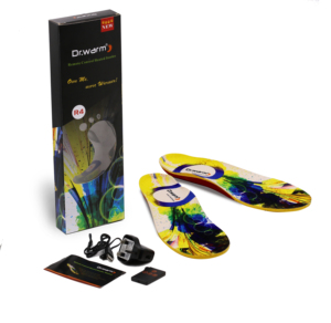 Rechargeable Battery Heated Insoles with Wireless Remote Control, Warming Battery Heated Insoles