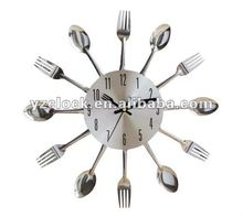 Kitchen knife and fork wall clock