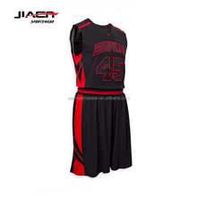 2016 Custom Best Latest Basketball Jersey Design 2016 China Manufacturer basketball jersey black and red