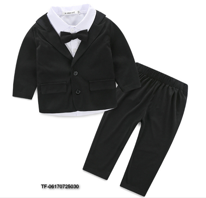baby boy gentleman suit new autumn 3pcs shirt+vest+trousers boy clothing set