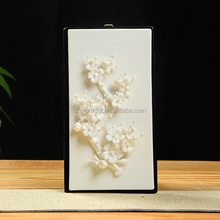 Rectangle ceramic home <strong>wall</strong> decoration modern with plum blossom design