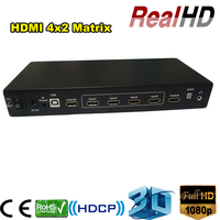 Popular China factory price 4 in 2 out true HDMI Matrix