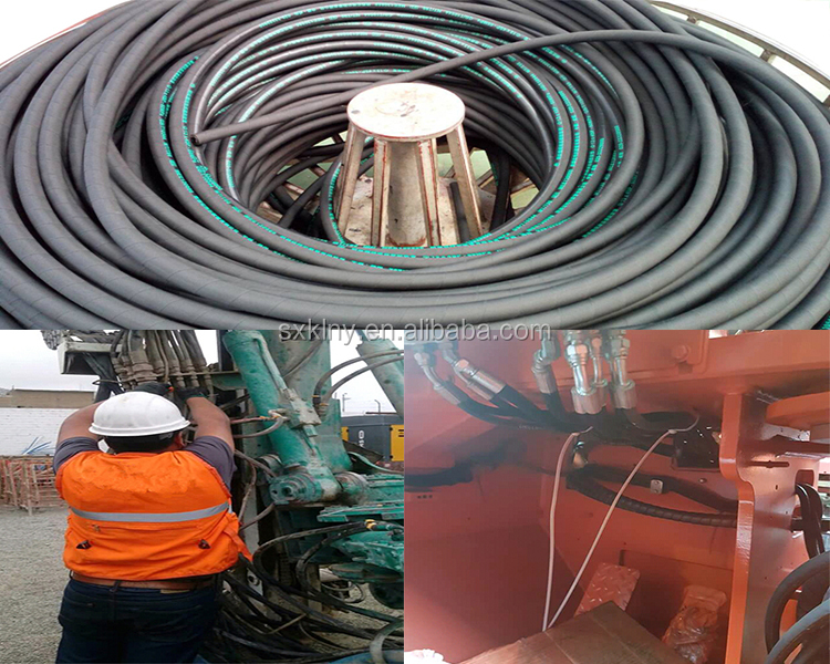23 Years Manufacture Experience Hydraulic Rubber Hose High Pressure Hydraulic Rubber Hose from China
