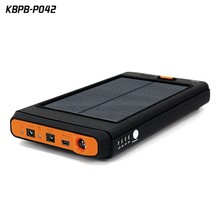 Laptop charge station solar charger 12v output power bank 12000mah