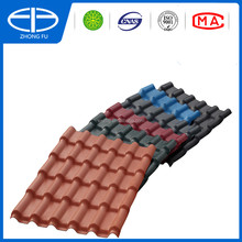Purplish Red ASA resin plastic roofing tile