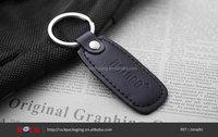 Good quality key chain, Custom made black leather key chain holder for sale