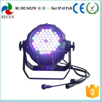 Power 54x3 led stage par can IP65 led par 64 used stage for sale