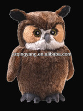 Factory supply stuffed animal pop and lifelike soft plush owl with big eye toys