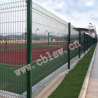 Hot dip galvanized welded wire fence panel