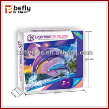 Wholesale dolphin 3d paper jigsaw puzzle for child