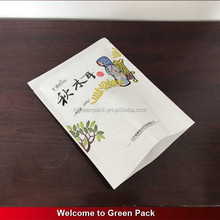 Gravure printing white kraft paper food packaging bag for morel mushroom packaging